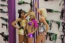 Соблазнительные девушки go-go на выставочном стенде