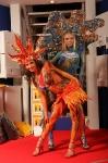 Модели боди-арт в ярких оригинальных костюмах