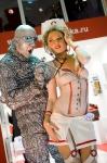 Артисты, модели боди-арт на выставке